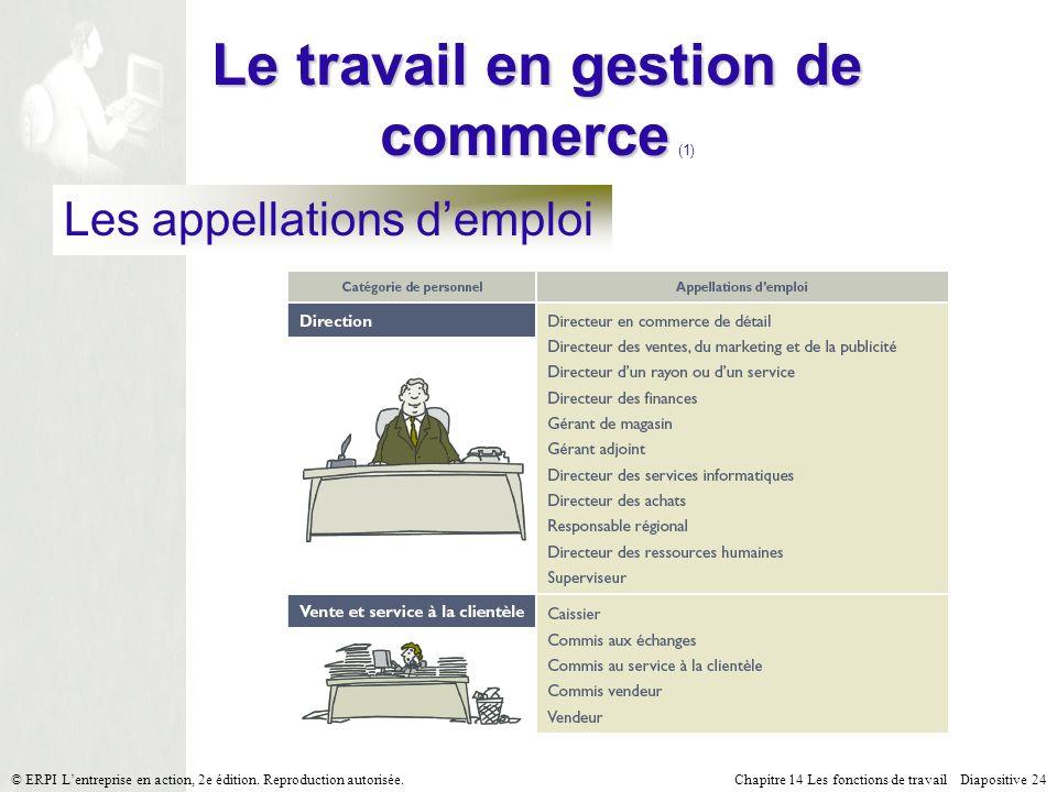 Le travail en gestion de commerce (1)