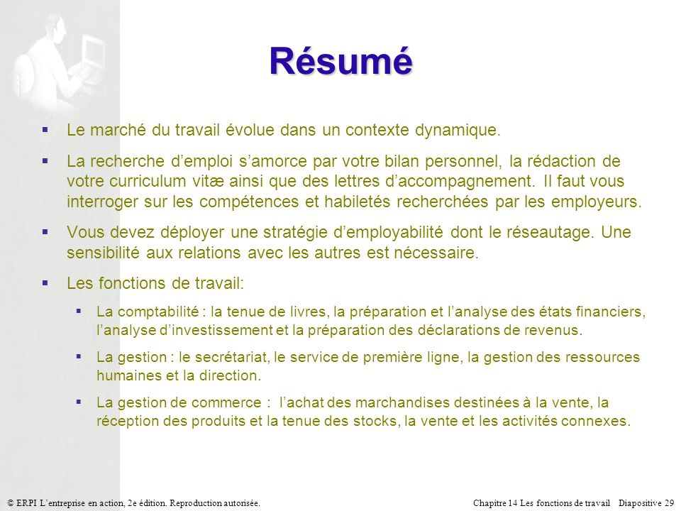 Résumé Le marché du travail évolue dans un contexte dynamique.