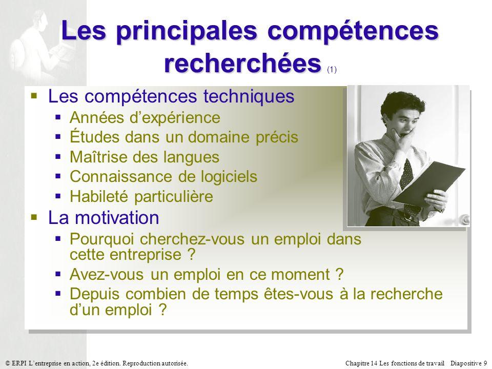 Les principales compétences recherchées (1)