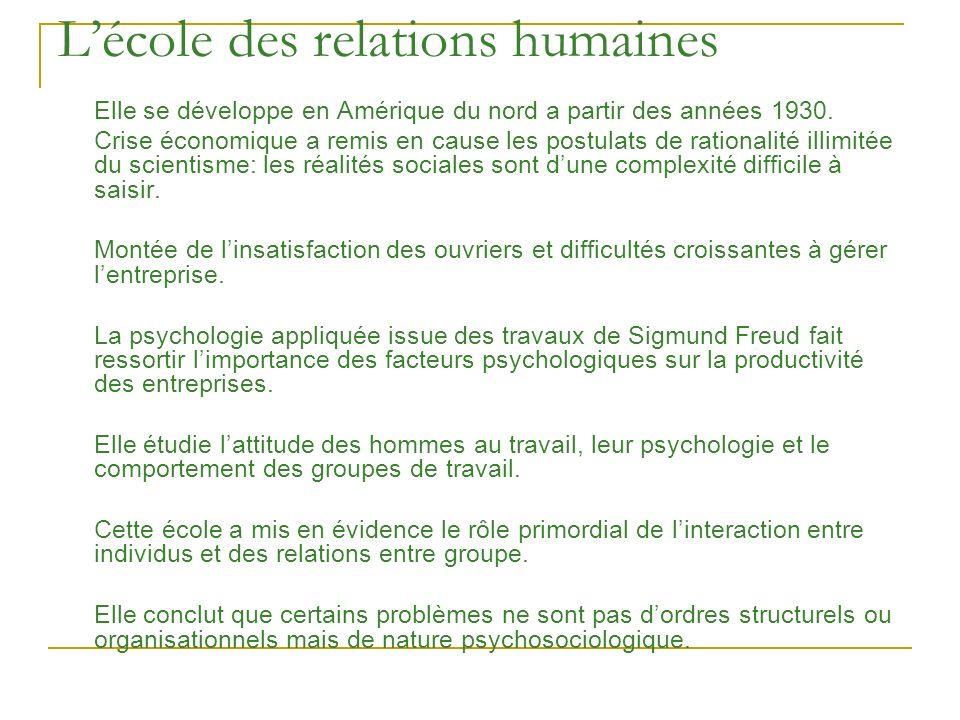 L'école des relations humaines