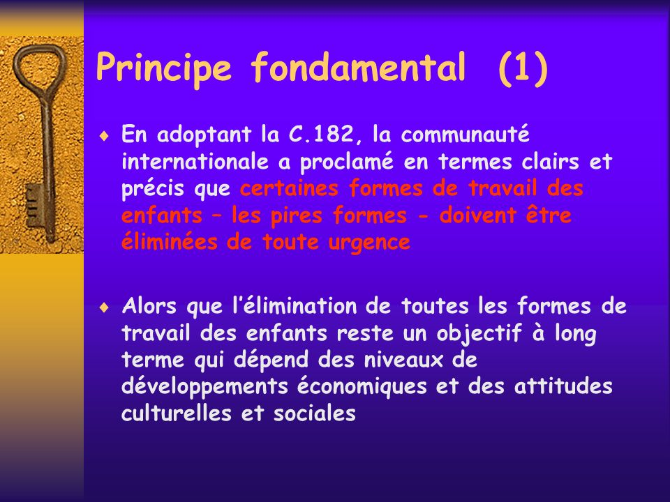 Principe fondamental (1)