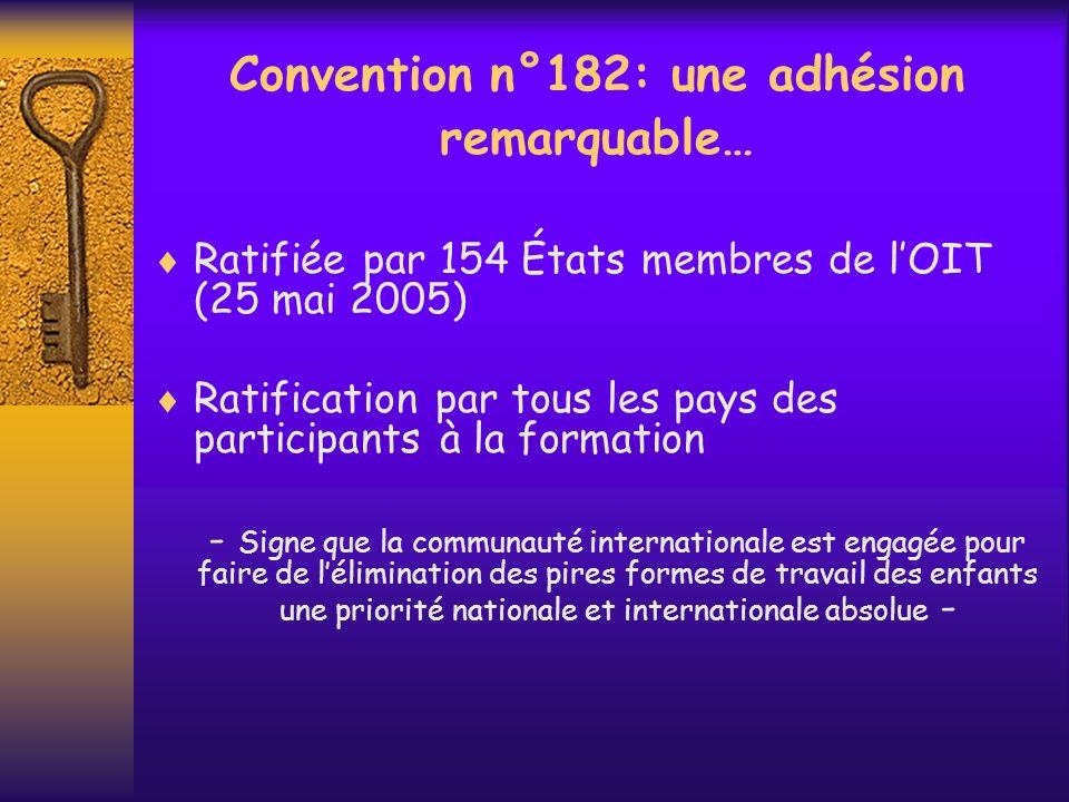 Convention n°182: une adhésion remarquable…