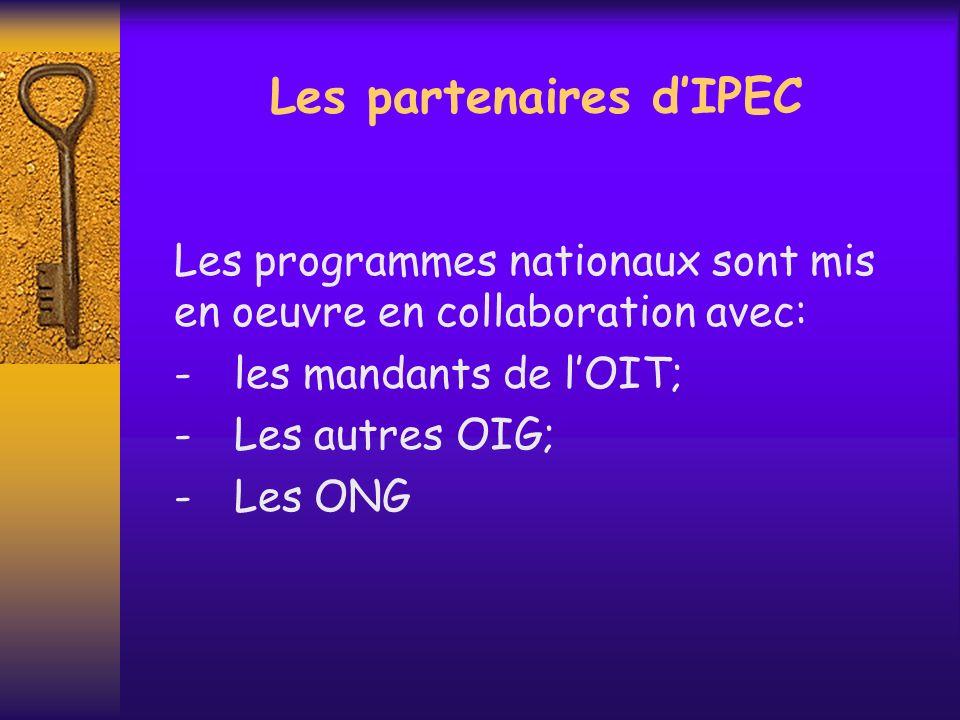 Les partenaires d'IPEC