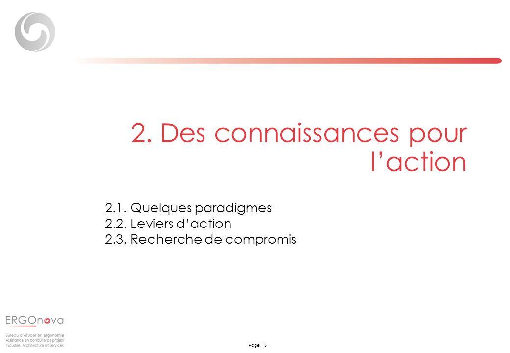 2. Des connaissances pour l'action