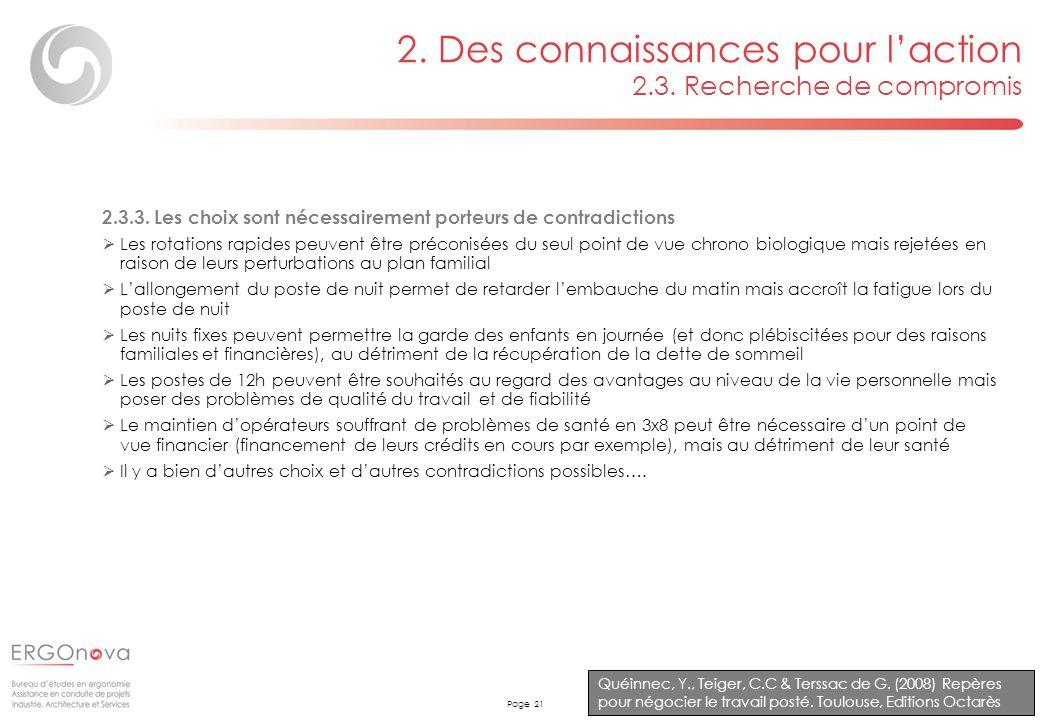 2. Des connaissances pour l'action 2.3. Recherche de compromis