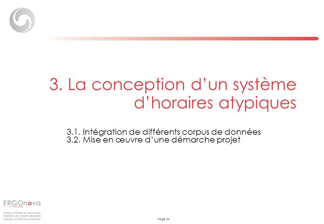 3. La conception d'un système d'horaires atypiques