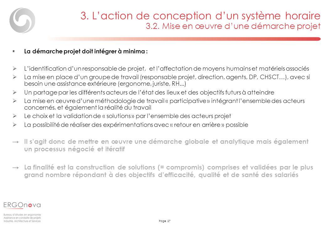 3. L'action de conception d'un système horaire 3. 2