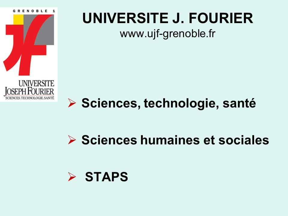 UNIVERSITE J. FOURIER www.ujf-grenoble.fr