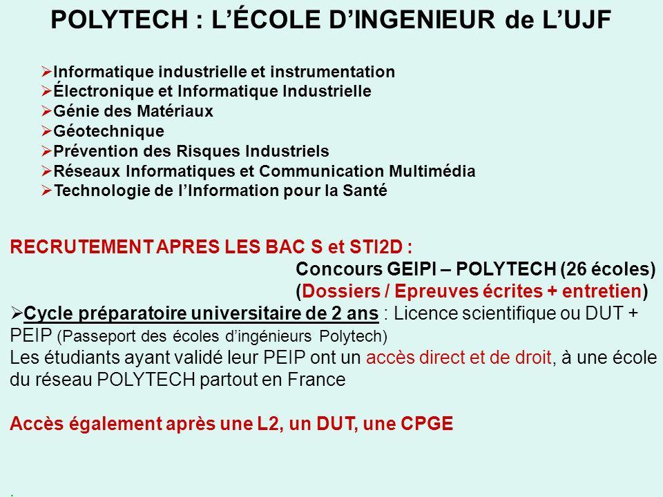 POLYTECH : L'ÉCOLE D'INGENIEUR de L'UJF