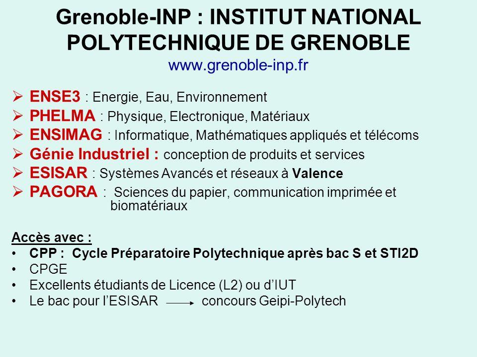 Grenoble-INP : INSTITUT NATIONAL POLYTECHNIQUE DE GRENOBLE www