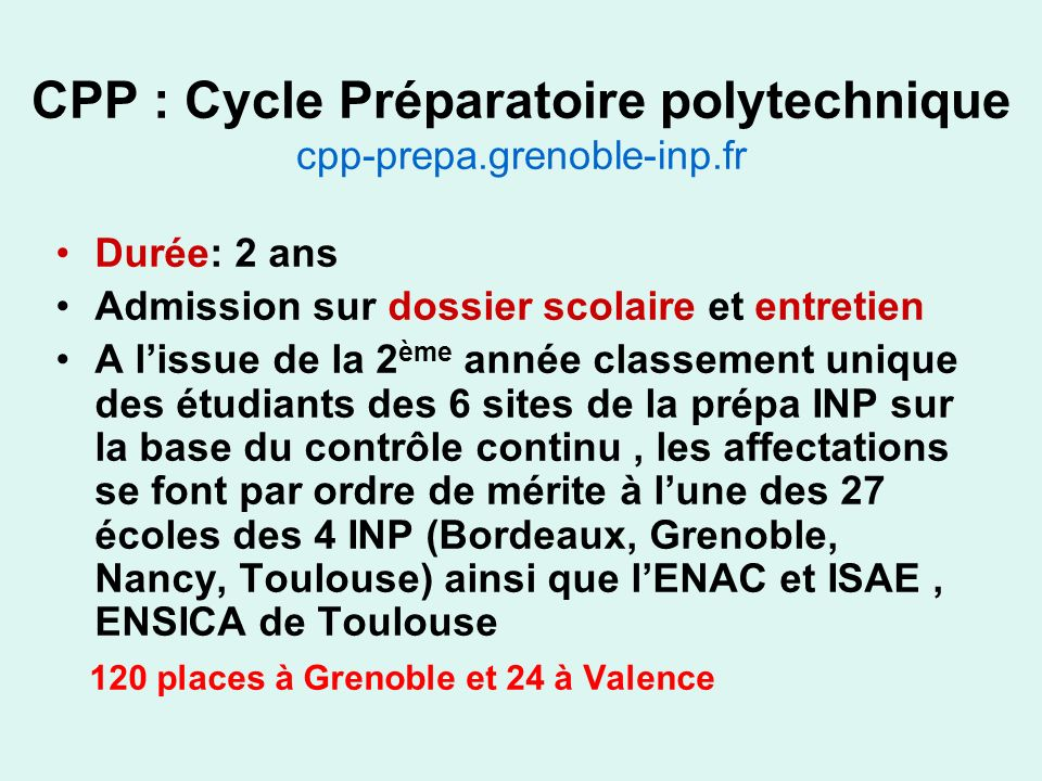 CPP : Cycle Préparatoire polytechnique cpp-prepa.grenoble-inp.fr