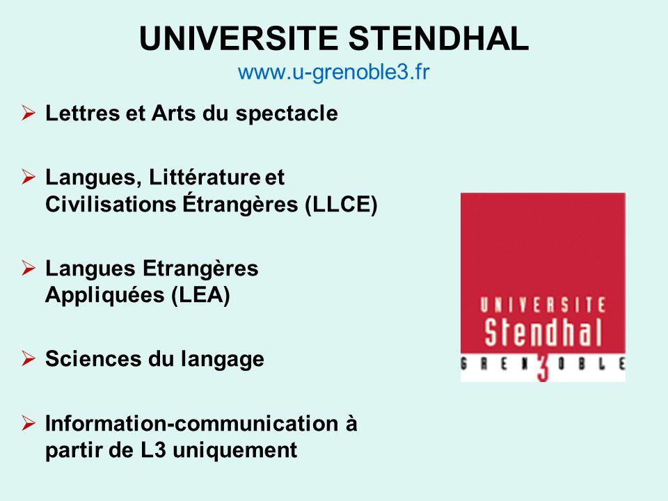 UNIVERSITE STENDHAL www.u-grenoble3.fr