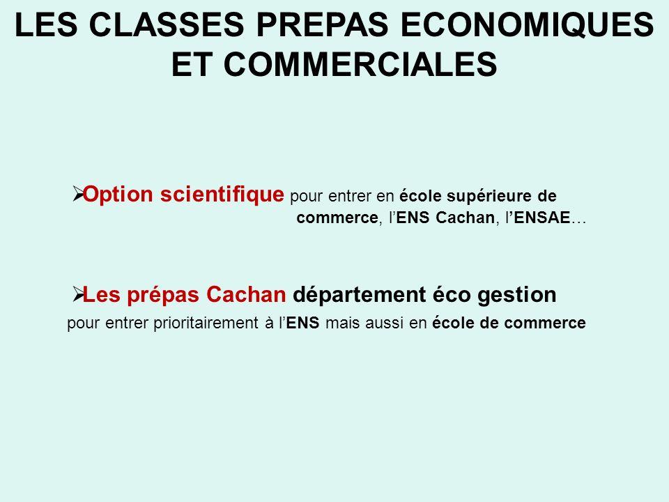 LES CLASSES PREPAS ECONOMIQUES ET COMMERCIALES