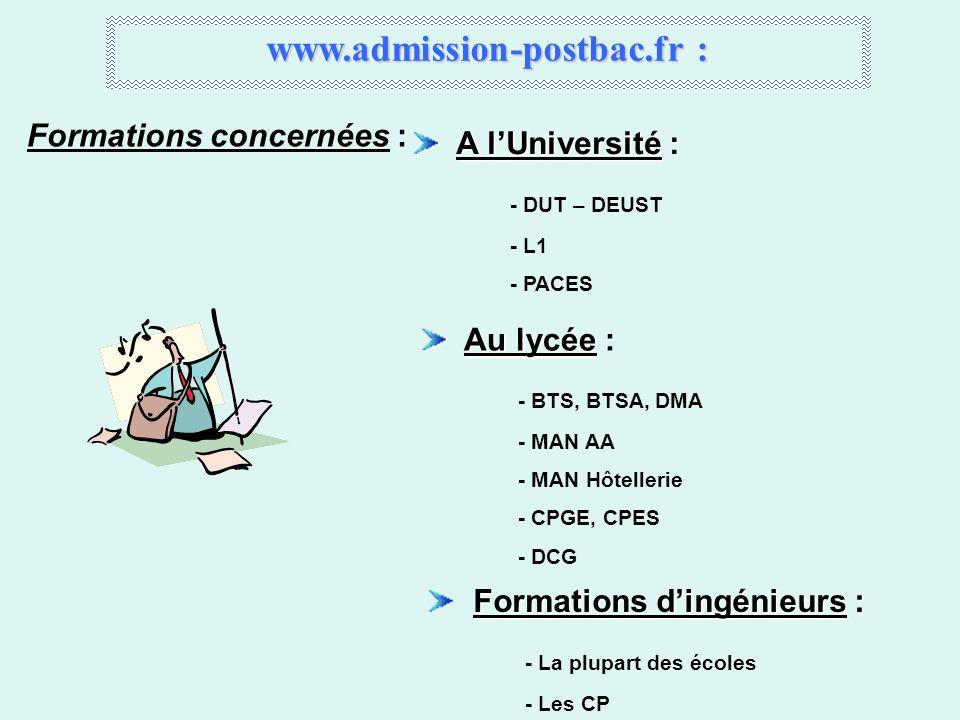www.admission-postbac.fr :