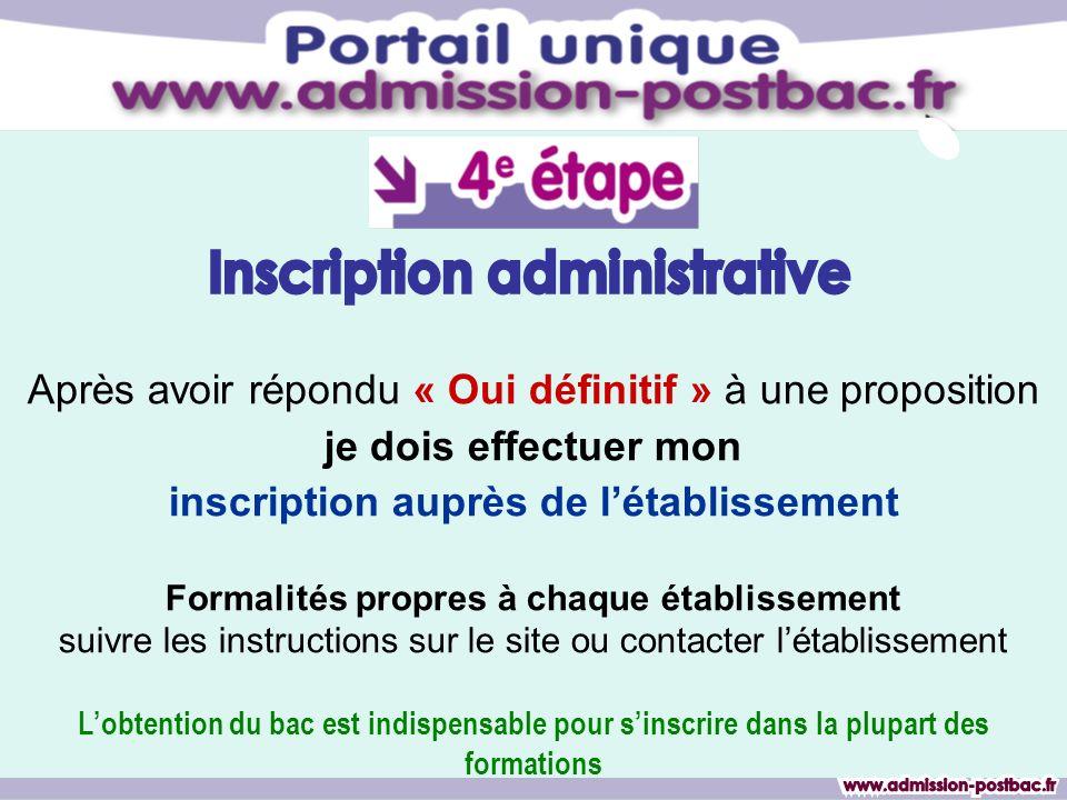 Inscription administrative