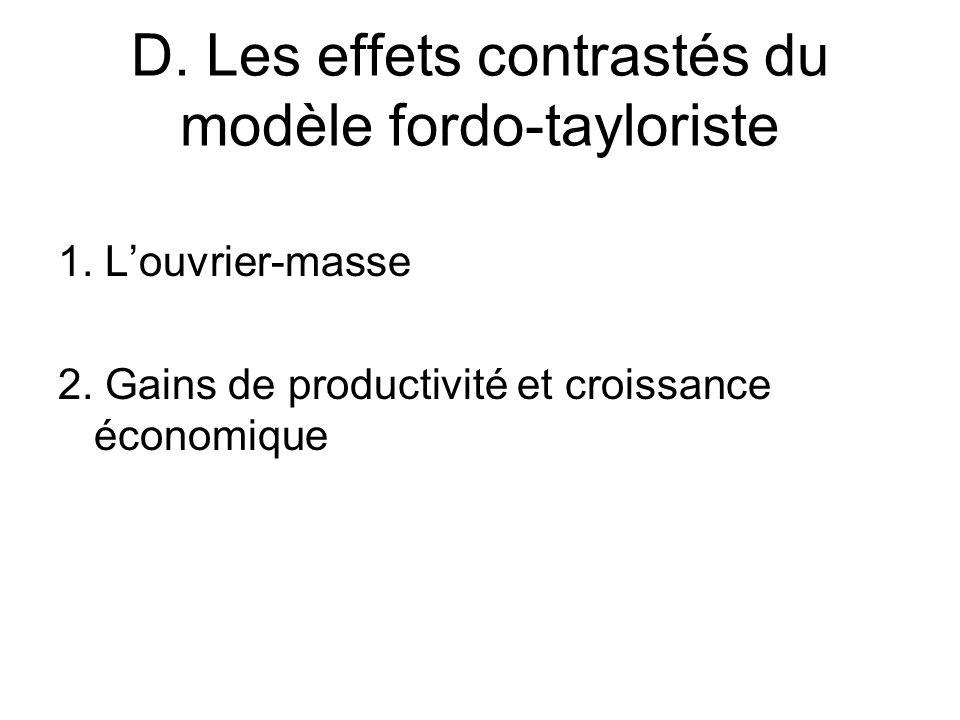 D. Les effets contrastés du modèle fordo-tayloriste