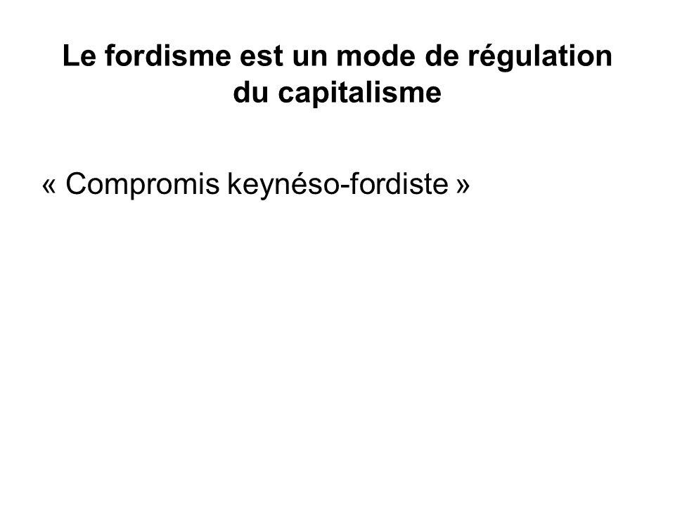 Le fordisme est un mode de régulation du capitalisme