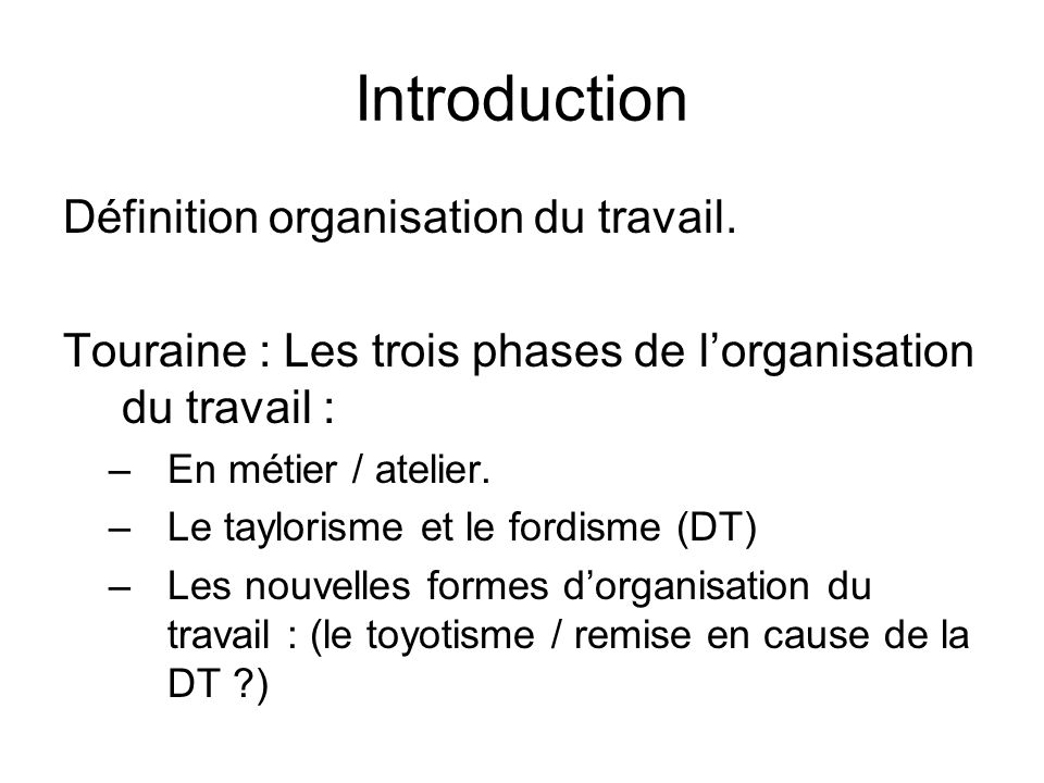 organisation du travail et croissance dissertation Le site des dissertations le temps de travail etc) et qualitative (organisation du les transformations de l'organisation du travail et la croissance.