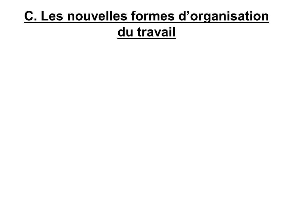 C. Les nouvelles formes d'organisation du travail