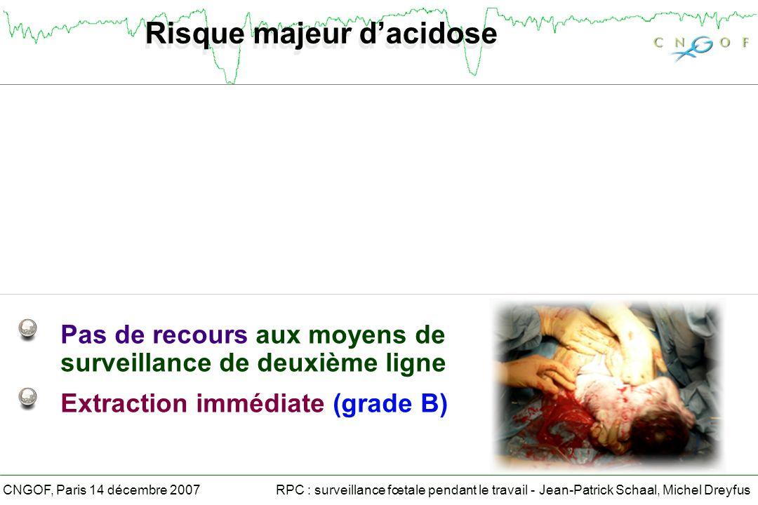 Risque majeur d'acidose