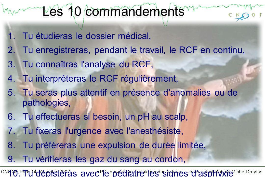 Les 10 commandements Tu étudieras le dossier médical,