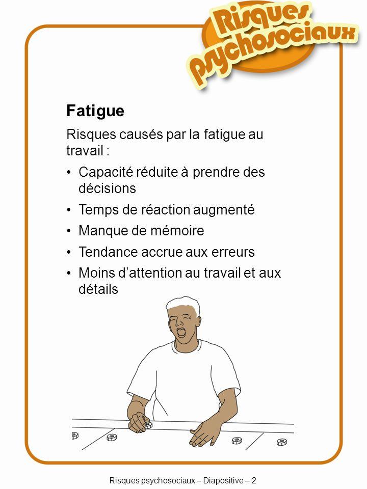 Risques psychosociaux – Diapositive – 2