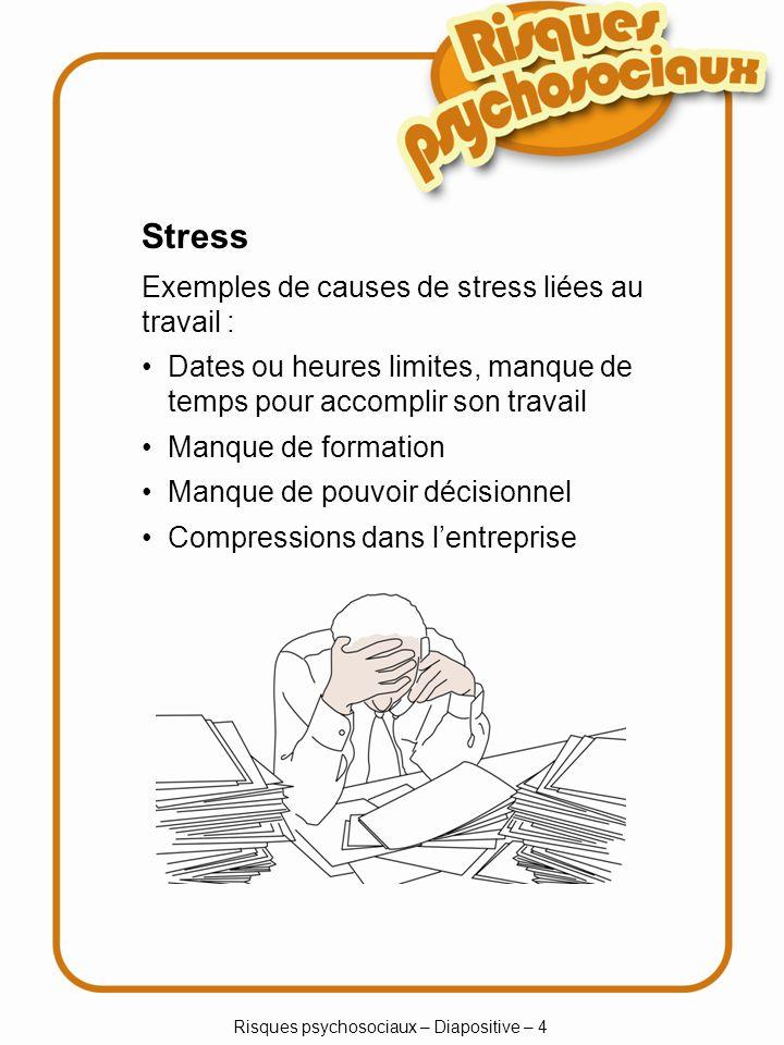 Risques psychosociaux – Diapositive – 4