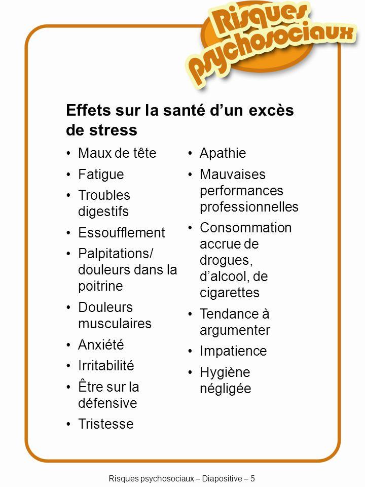 Risques psychosociaux – Diapositive – 5