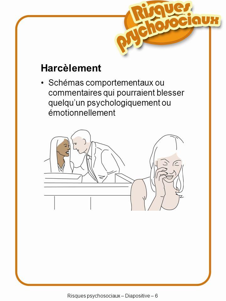 Risques psychosociaux – Diapositive – 6