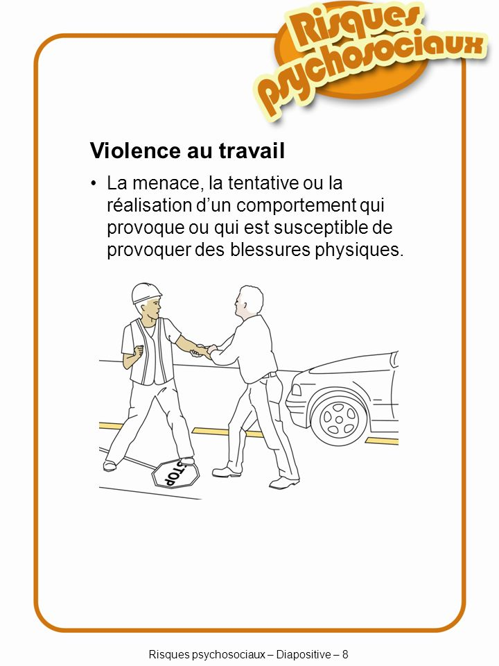 Risques psychosociaux – Diapositive – 8