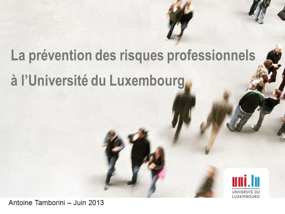 La prévention des risques professionnels à l'Université du Luxembourg