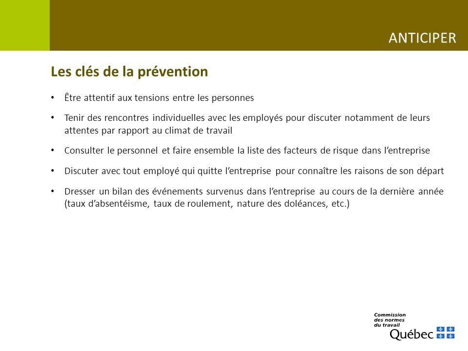 Les clés de la prévention