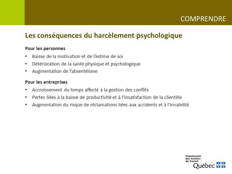 Les conséquences du harcèlement psychologique