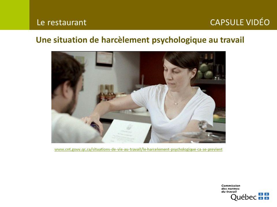 Le restaurant CAPSULE VIDÉO