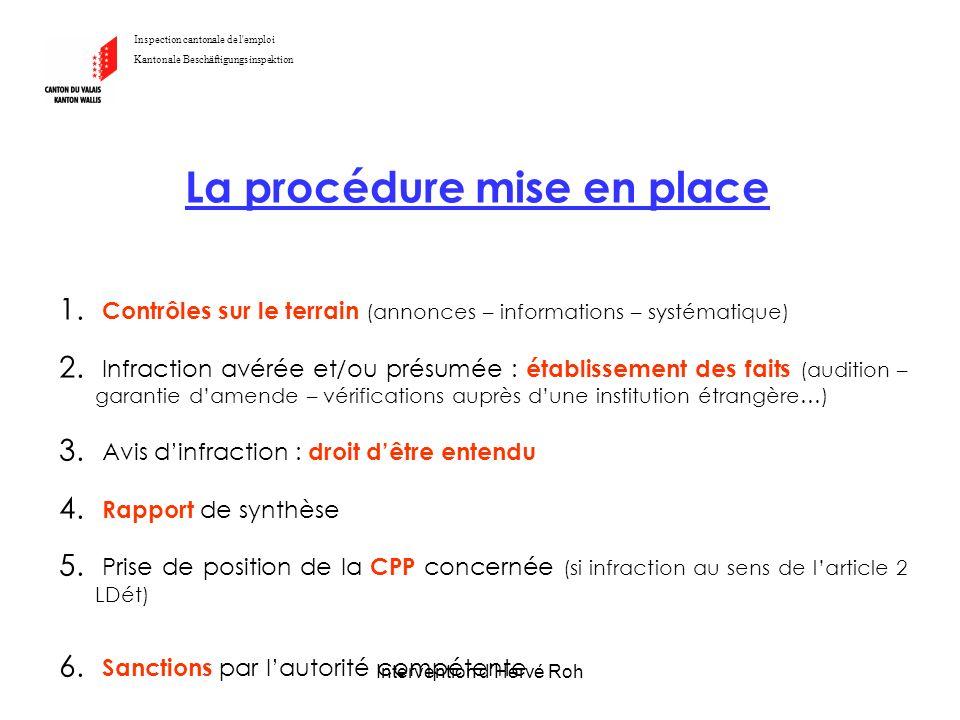 La procédure mise en place