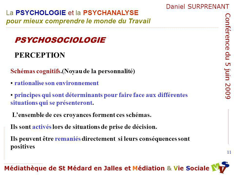 PSYCHOSOCIOLOGIE PERCEPTION