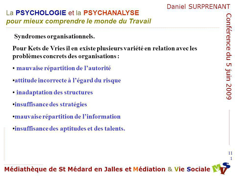 Syndromes organisationnels.