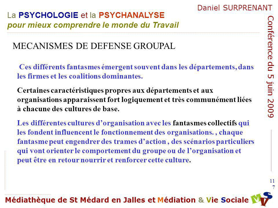MECANISMES DE DEFENSE GROUPAL