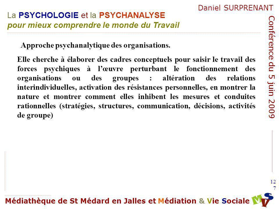 Approche psychanalytique des organisations.
