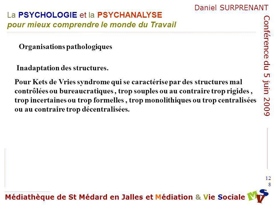 Organisations pathologiques