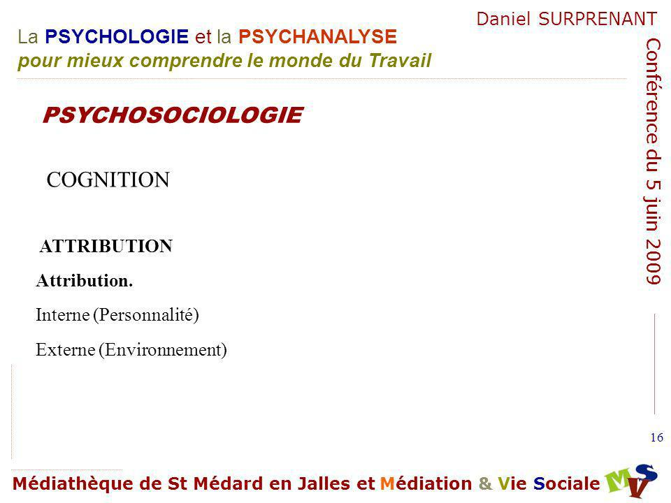 PSYCHOSOCIOLOGIE COGNITION ATTRIBUTION Attribution.