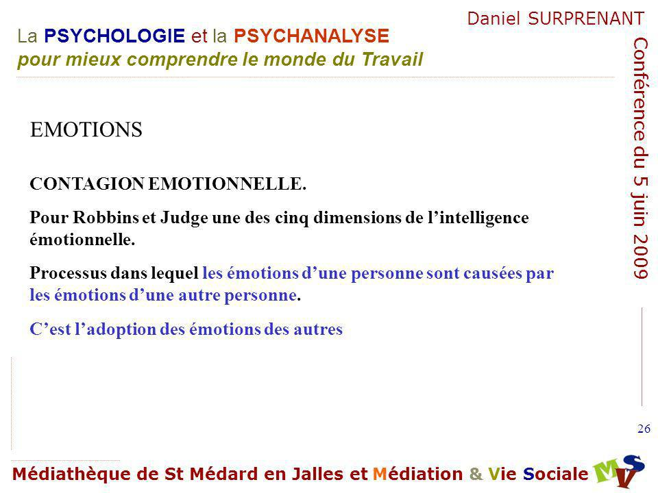 EMOTIONS CONTAGION EMOTIONNELLE.