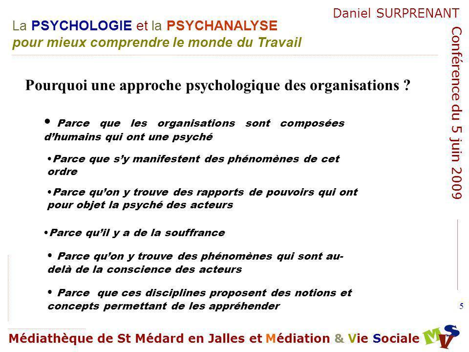 Pourquoi une approche psychologique des organisations