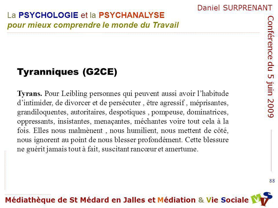 Tyranniques (G2CE)