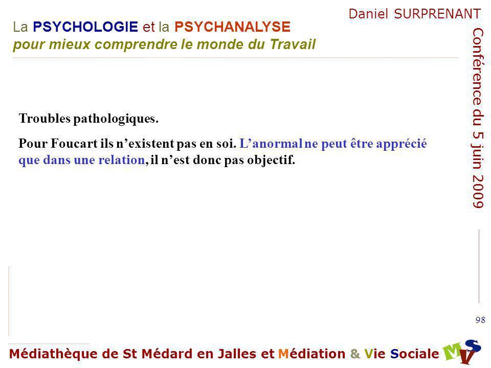 Troubles pathologiques.