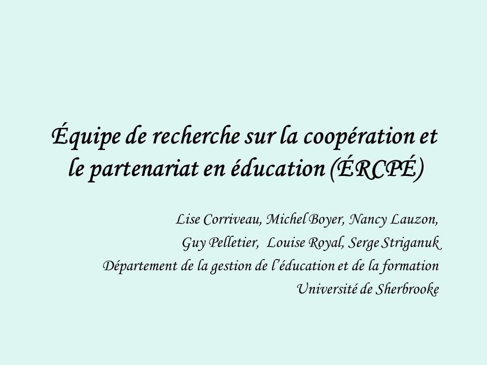 Équipe de recherche sur la coopération et le partenariat en éducation (ÉRCPÉ)