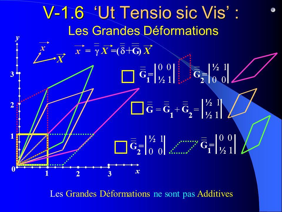 V-1.6 'Ut Tensio sic Vis' : Les Grandes Déformations