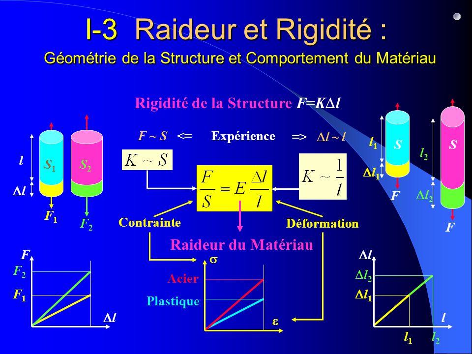 I-3 Raideur et Rigidité : Géométrie de la Structure et Comportement du Matériau