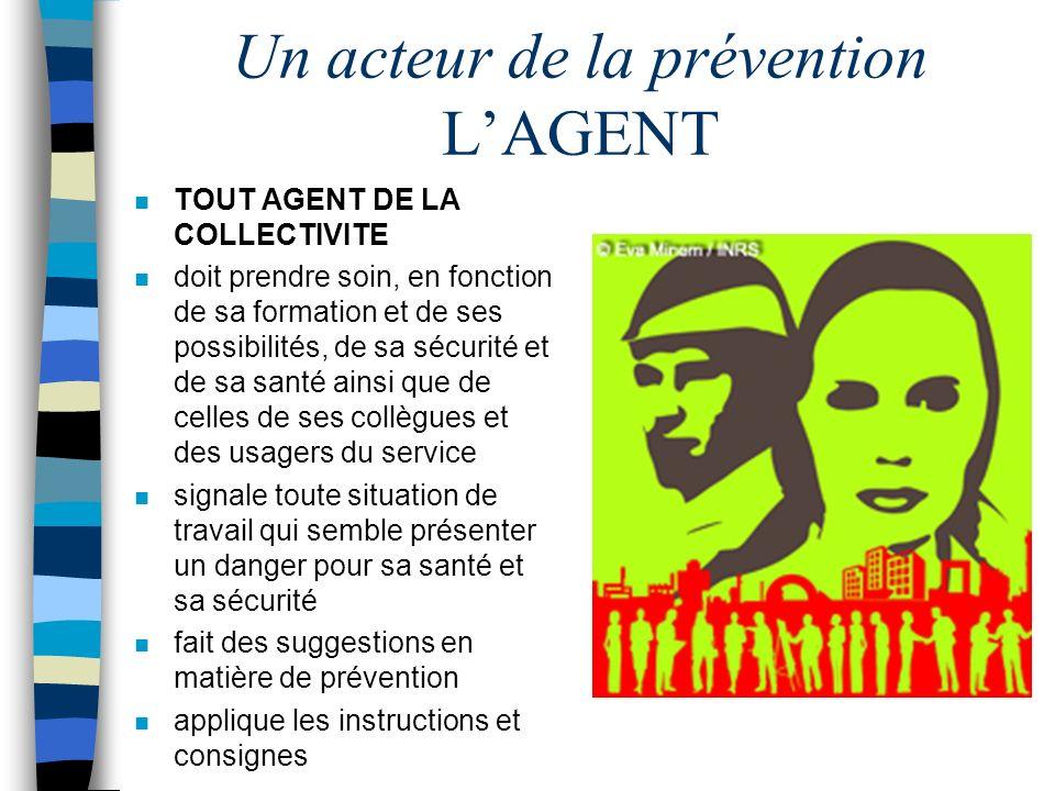 Un acteur de la prévention L'AGENT
