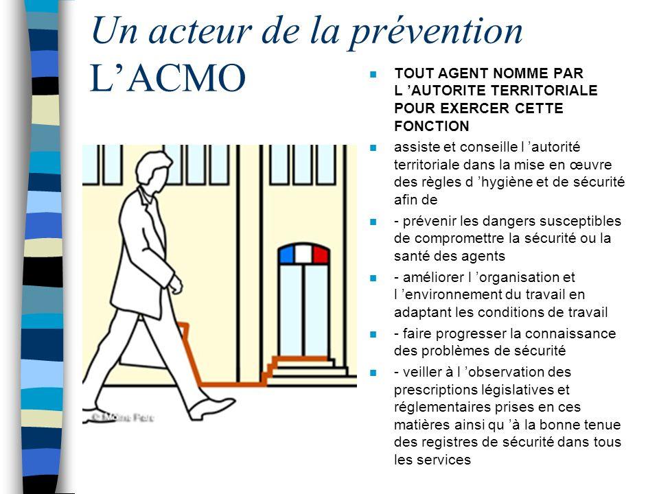 Un acteur de la prévention L'ACMO